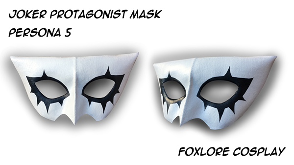 Foxlore Creations Joker Cosplay mask made with his best mask making materials