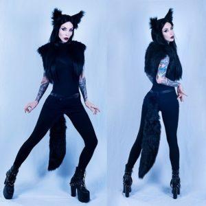 @razor_candi as a dark gothic wolf