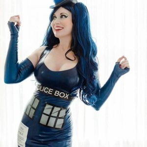 @gogo_incognito wearing a Police Box Tiny Topper