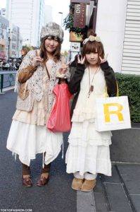 2 girls wearing the Mori Girl J Fashion Trend