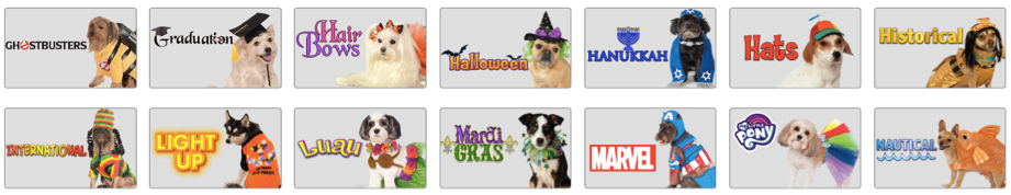 Rubie's even has quick costumes for pets!