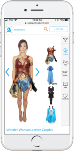 Headwink app, anime dress up games for trying on cosplays