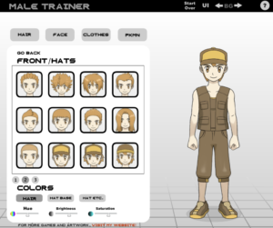 Anime dress up games for guys. Dressing up male Pokemon trainer