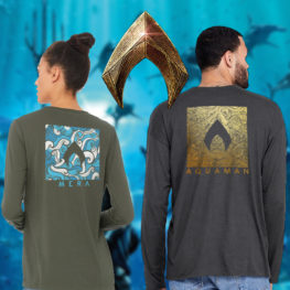Mera and Aquaman Shirts from HeroWithin